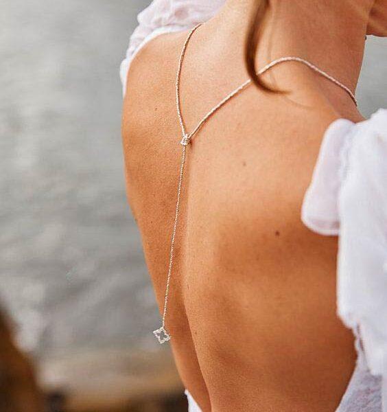 Прикраси для сукні з відкритою спиною
